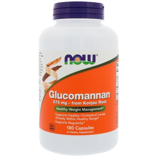 Now Foods, Glucomannan, 575 mg, 180 Capsules فوائد