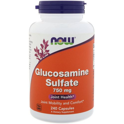 Now Foods, Glucosamine Sulfate, 750 mg, 240 Capsules فوائد