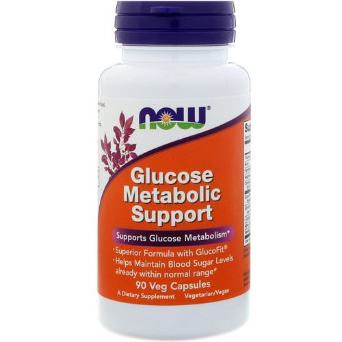Now Foods, Glucose Metabolic Support, 90 Veg Capsules فوائد