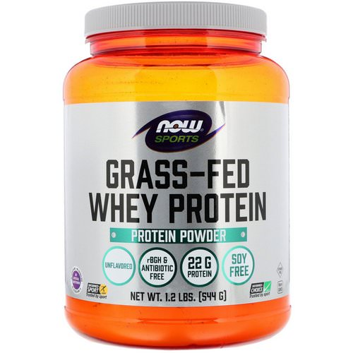 Now Foods, Grass-Fed Whey Protein Concentrate, Unflavored, 1.2 lbs (544 g) فوائد
