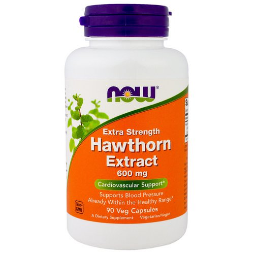 Now Foods, Hawthorn Extract, Extra Strength, 600 mg, 90 Veg Capsules فوائد
