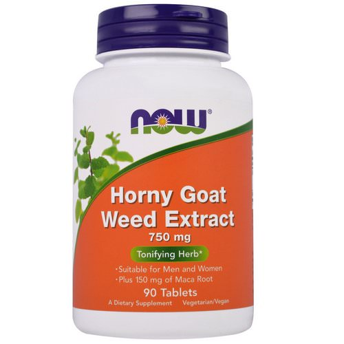 Now Foods, Horny Goat Weed Extract, 750 mg, 90 Tablets فوائد