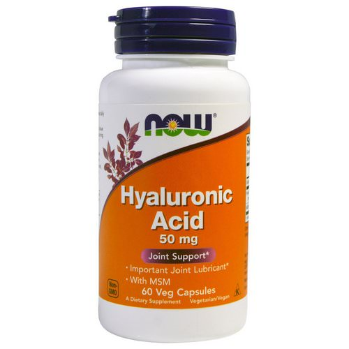 Now Foods, Hyaluronic Acid, 50 mg, 60 Veg Capsules فوائد