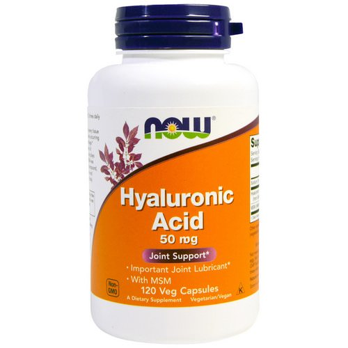 Now Foods, Hyaluronic Acid, 50mg, 120 Veg Capsules فوائد