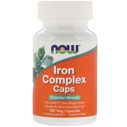 Now Foods, Iron Complex Caps, 100 Veg Capsules فوائد