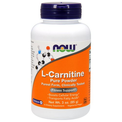 Now Foods, L-Carnitine, Pure Powder, 3 oz (85 g) فوائد