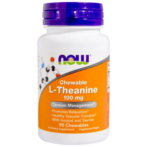 Now Foods, L-Theanine, 100 mg, 90 Chewables فوائد