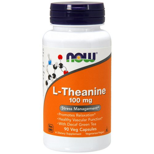 Now Foods, L-Theanine, 100 mg, 90 Veg Capsules فوائد