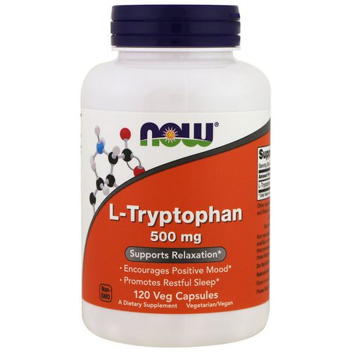 Now Foods, L-Tryptophan, 500 mg, 120 Veg Caps فوائد