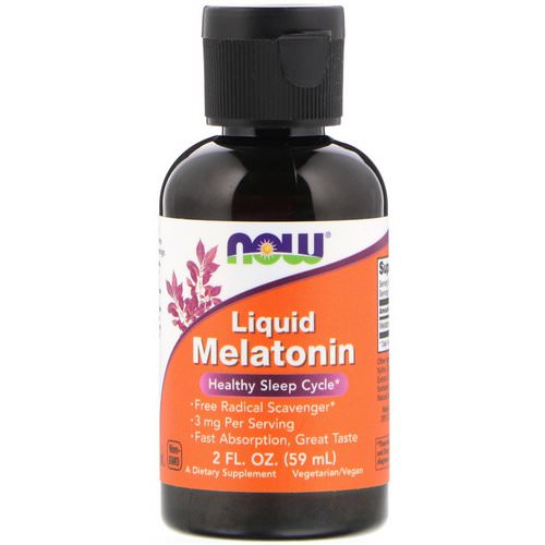 Now Foods, Liquid Melatonin, 2 fl oz (59 ml) فوائد
