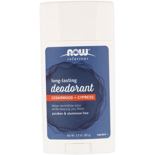 Now Foods, Long Lasting Deodorant, Cedarwood + Cypress, 2.2 oz (62 g) فوائد