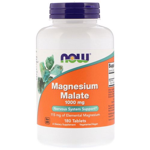 Now Foods, Magnesium Malate, 1,000 mg, 180 Tablets فوائد