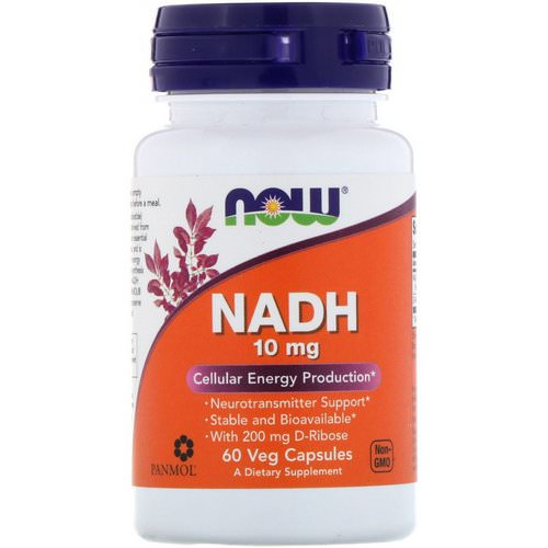 Now Foods, NADH, 10 mg, 60 Veg Capsules فوائد
