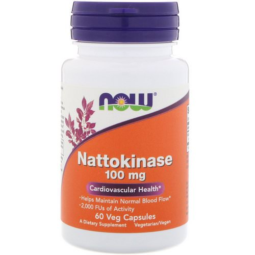 Now Foods, Nattokinase, 100 mg, 60 Veg Capsules فوائد