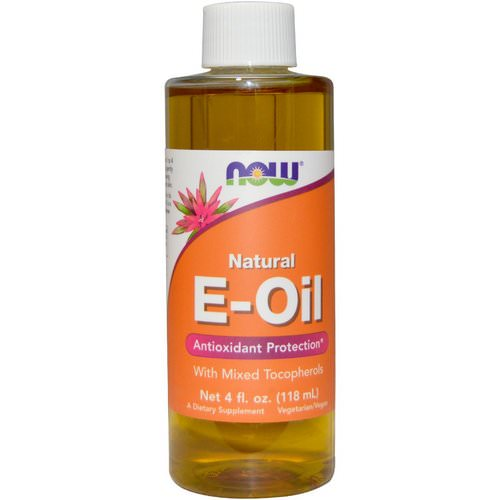 Now Foods, Natural E-Oil, Antioxidant Protection, 4 fl oz (118 ml) فوائد