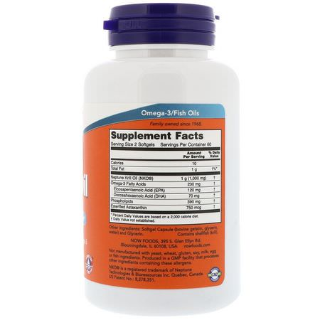 Now Foods, Neptune Krill Oil, 500 mg, 120 Softgels:Krill Oil, Omegas EPA DHA