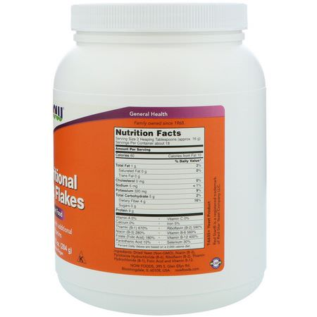 Now Foods, Nutritional Yeast Flakes, 10 oz (284 g):الخميرة, س,برف,دز