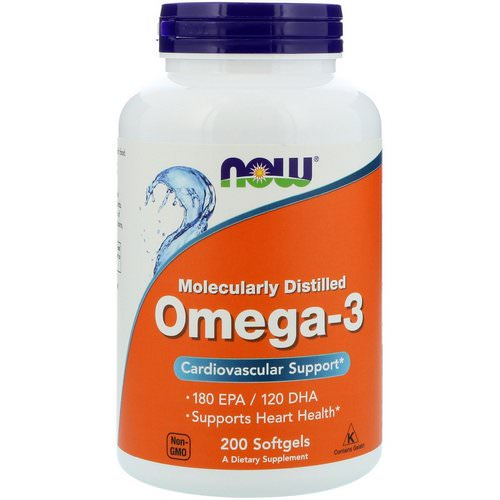 Now Foods, Omega-3, 180 EPA/120 DHA, 200 Softgels فوائد