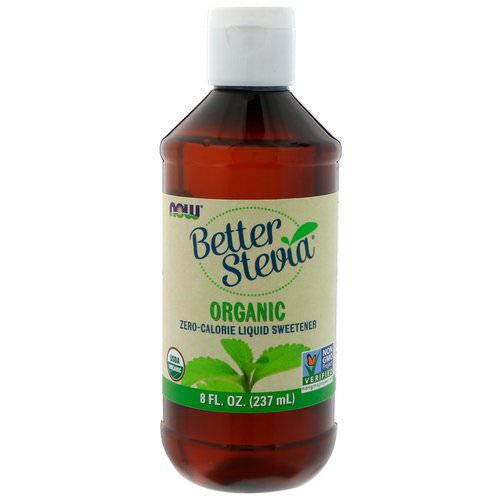 Now Foods, Organic, Better Stevia, Zero-Calorie Liquid Sweetener, 8 fl oz (237 ml) فوائد
