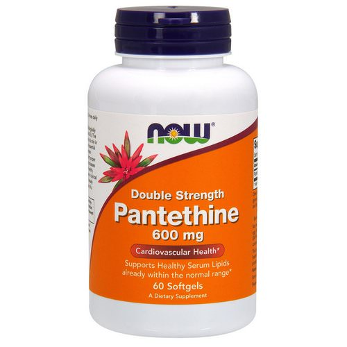 Now Foods, Pantethine, Double Strength, 600 mg, 60 Softgels فوائد