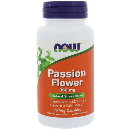 Now Foods, Passion Flower, 350 mg, 90 Veg Capsules فوائد