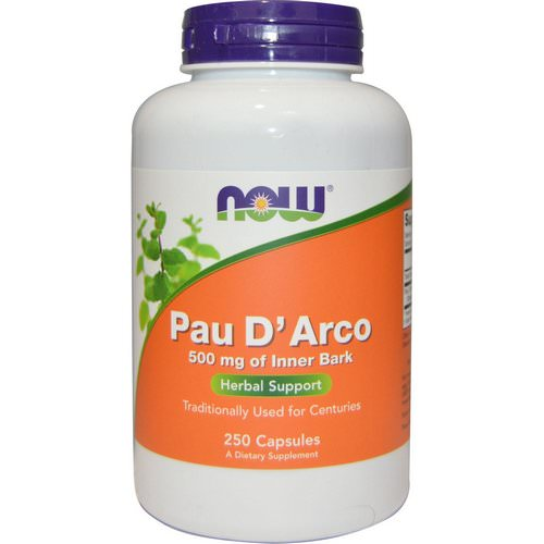 Now Foods, Pau D' Arco, 500 mg, 250 Capsules فوائد