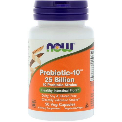 Now Foods, Probiotic-10, 25 Billion, 50 Veg Capsules فوائد