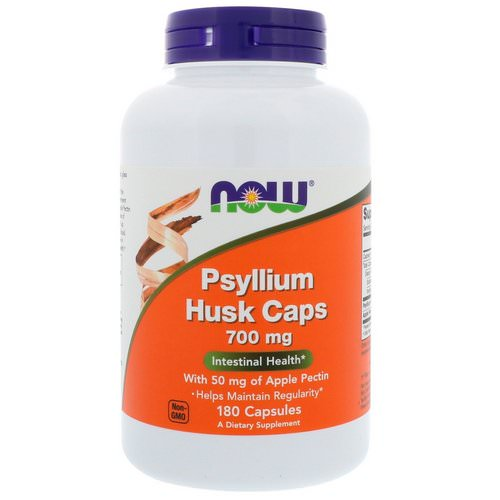 Now Foods, Psyllium Husk Caps, 700 mg, 180 Capsules فوائد