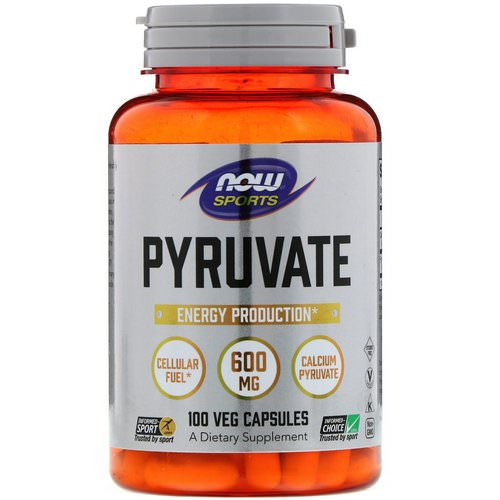 Now Foods, Pyruvate, 600 mg, 100 Veg Capsules فوائد