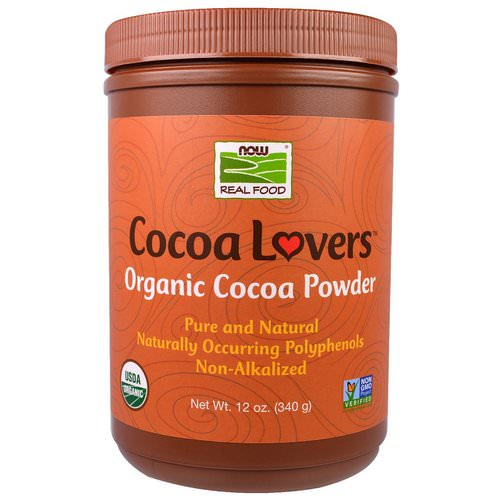 Now Foods, Real Food, Cocoa Lovers, Organic Cocoa Powder, 12 oz (340 g) فوائد