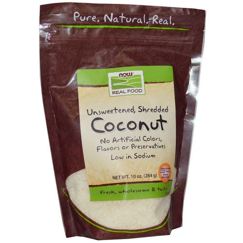 Now Foods, Real Food, Coconut, 10 oz (284 g) فوائد