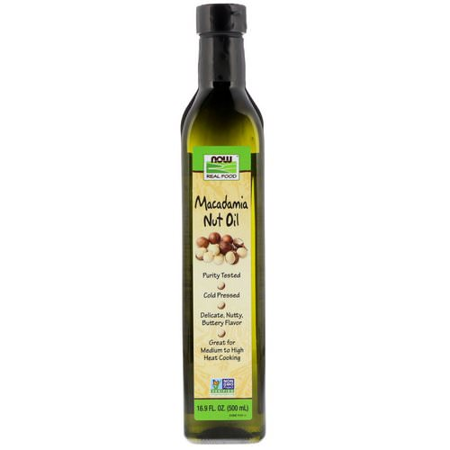 Now Foods, Real Food, Macadamia Nut Oil, 16.9 fl oz (500 ml) فوائد
