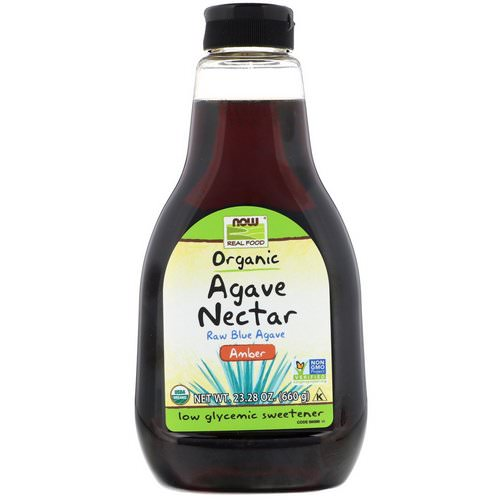 Now Foods, Real Food, Organic Agave Nectar, Amber, 23.28 oz (660 g) فوائد