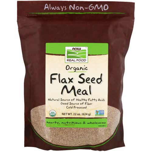 Now Foods, Real Food, Organic, Flax Seed Meal, 1.4 lbs (624 g) فوائد