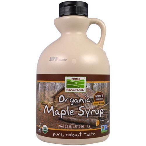 Now Foods, Real Food, Organic Maple Syrup, Grade A, Dark Color, 32 fl oz (946 ml) فوائد