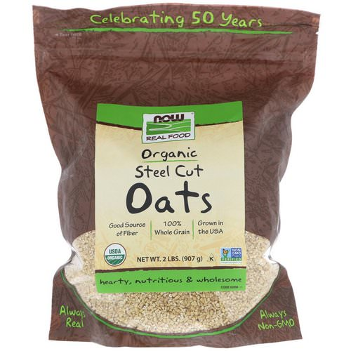 Now Foods, Real Food, Organic Steel Cut Oats, 2 lbs (907 g) فوائد