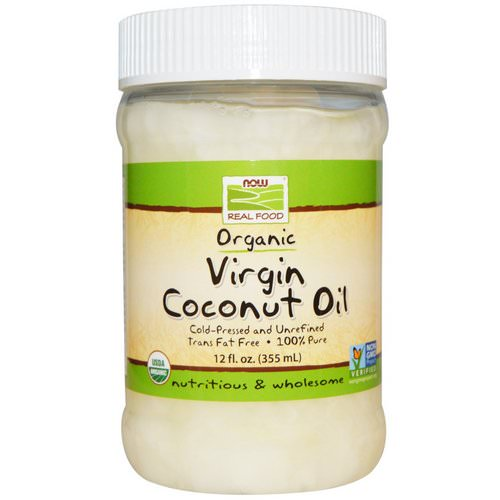 Now Foods, Real Food, Organic, Virgin Coconut Oil, 12 fl oz (355 ml) فوائد