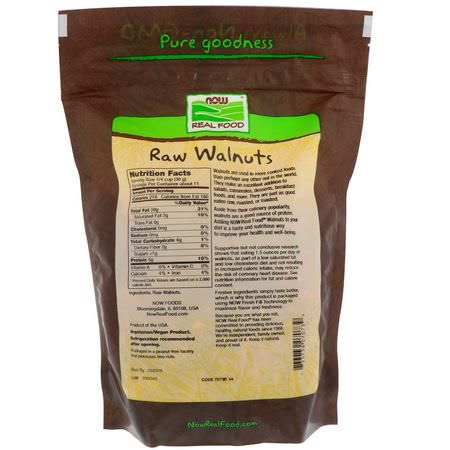 Now Foods, Real Food, Raw Walnuts, Unsalted, 12 oz (340 g):الج,ز, البذ,ر