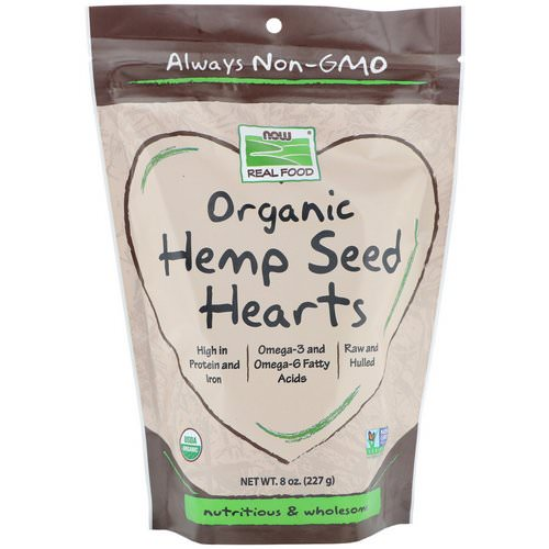 Now Foods, Real Foods, Organic Hemp Seed Hearts, 8 oz (227 g) فوائد