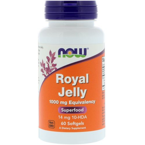 Now Foods, Royal Jelly, 1000 mg, 60 Softgels فوائد
