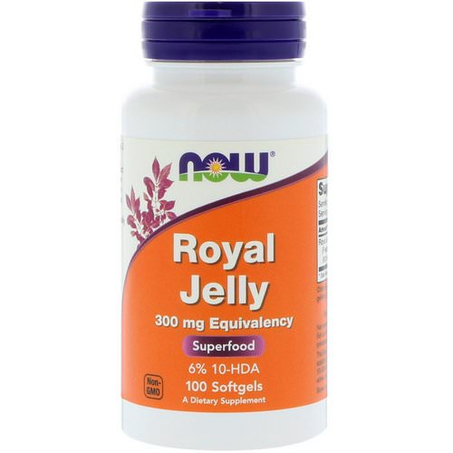 Now Foods, Royal Jelly, 300 mg, 100 Softgels فوائد