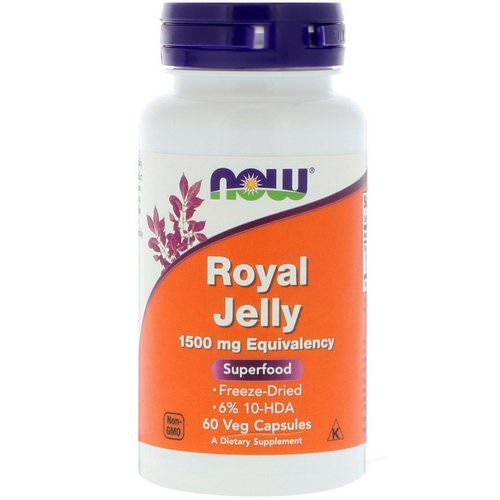 Now Foods, Royal Jelly, 60 Veg Capsules فوائد