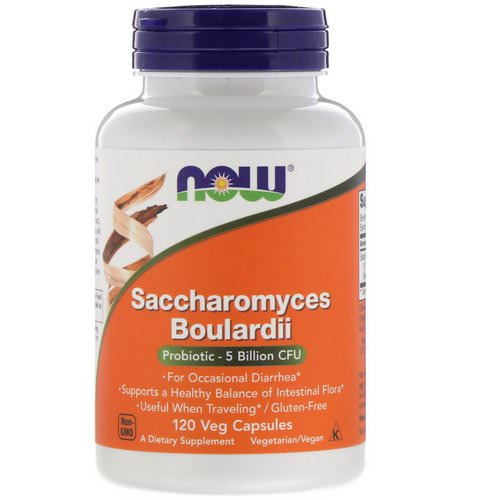 Now Foods, Saccharomyces Boulardii, 5 Billion CFU, 120 Veg Capsules فوائد