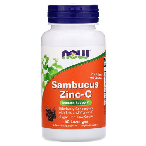 Now Foods, Sambucus Zinc-C, 60 Lozenges فوائد
