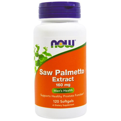 Now Foods, Saw Palmetto Extract, 160 mg, 120 Softgels فوائد