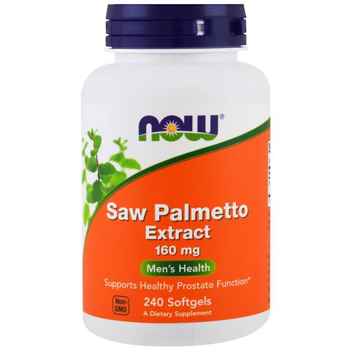 Now Foods, Saw Palmetto Extract, 160 mg, 240 Softgels فوائد
