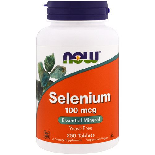 Now Foods, Selenium, Yeast Free, 100 mcg, 250 Tablets فوائد