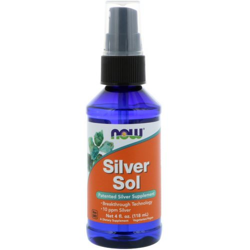 Now Foods, Silver Sol, 4 fl oz (118 ml) فوائد