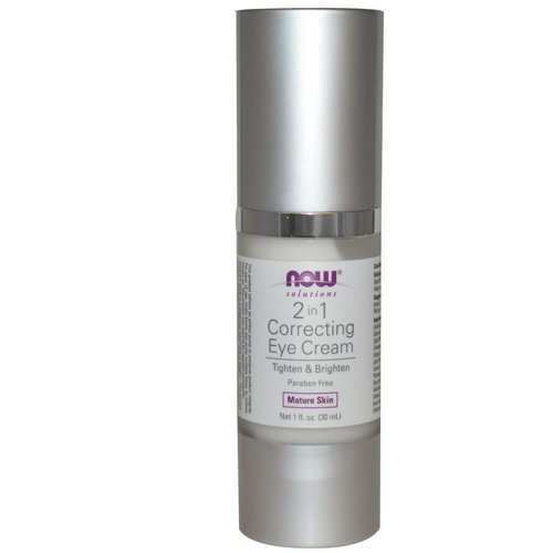 Now Foods, Solutions, 2 in 1 Correcting Eye Cream, 1 fl oz (30 ml) فوائد