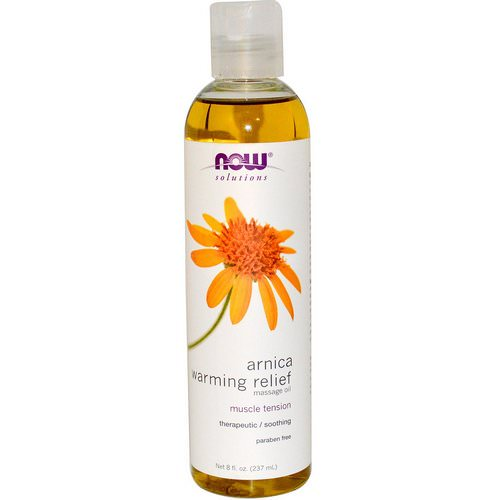 Now Foods, Solutions, Arnica Warming Relief Massage Oil, 8 fl oz (237 ml) فوائد